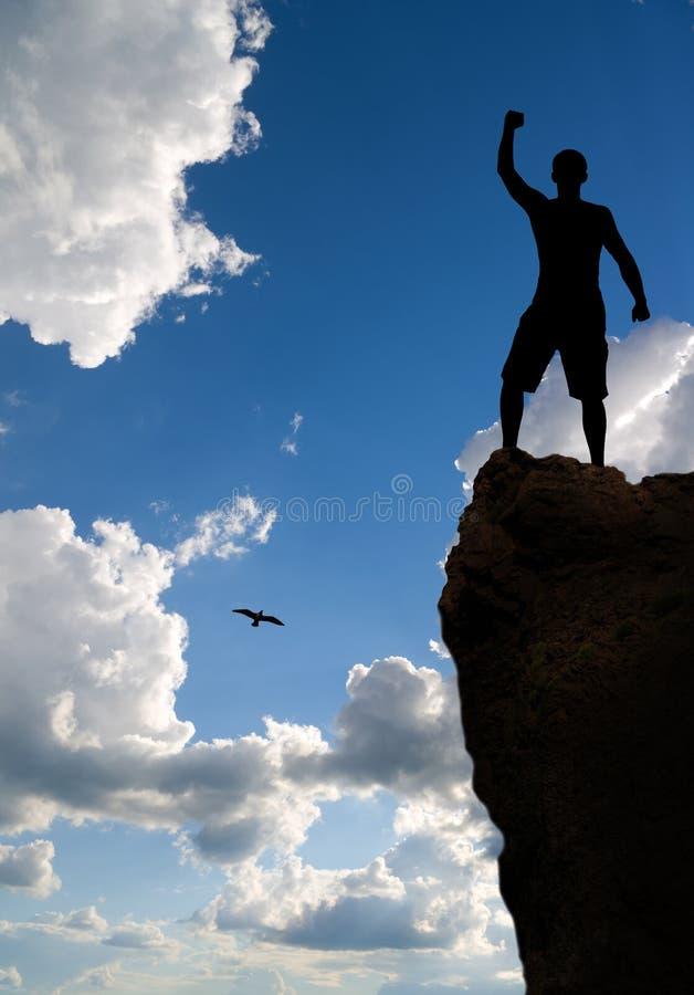 Download Man On Peak Of Mountain. Royalty Free Stock Image - Image: 23716036