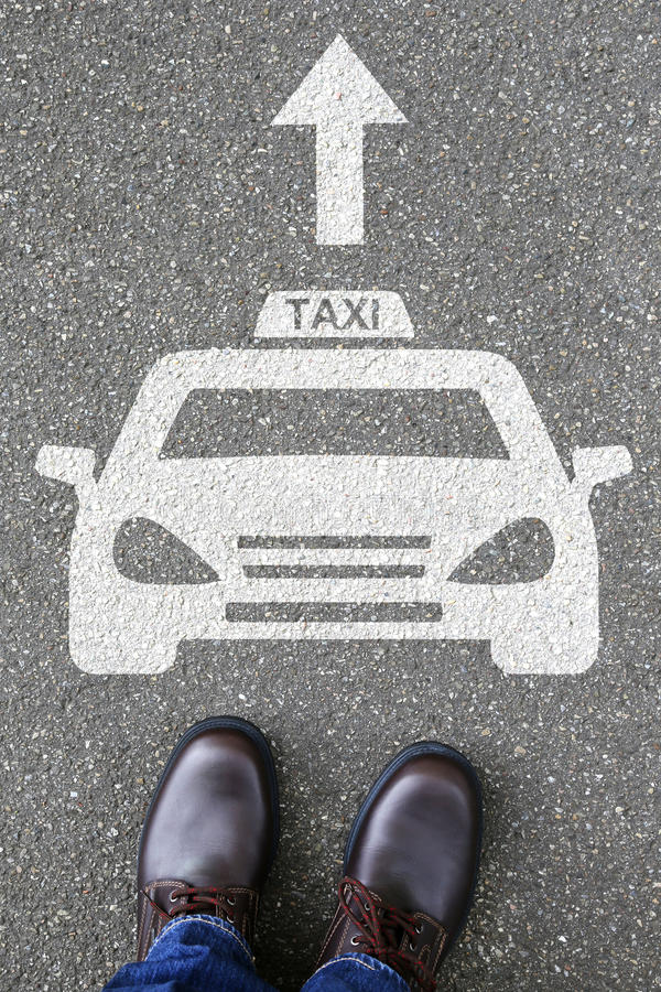 Man people taxi cab icon sign logo car vehicle street road traff. Ic city mobility transport royalty free stock photos