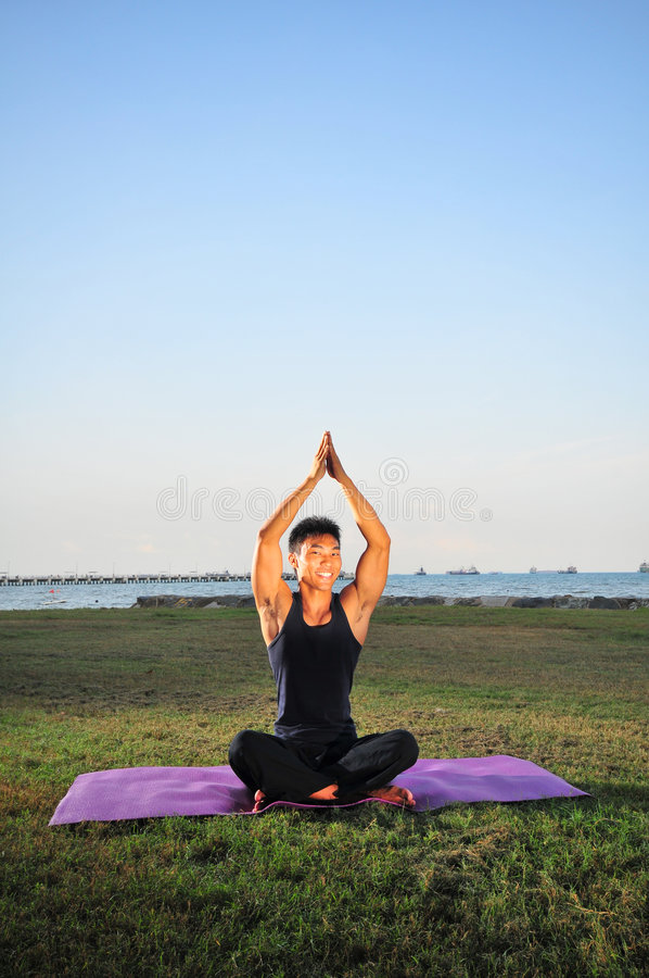 Free Man Performing Yoga 4 Stock Images - 6585834