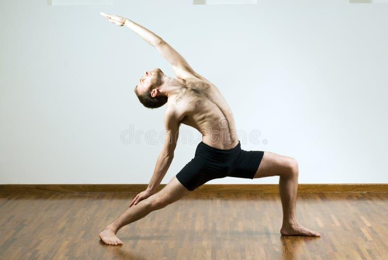 Download Man Performing Yoga - Horizontal Royalty Free Stock Images - Image: 5615799