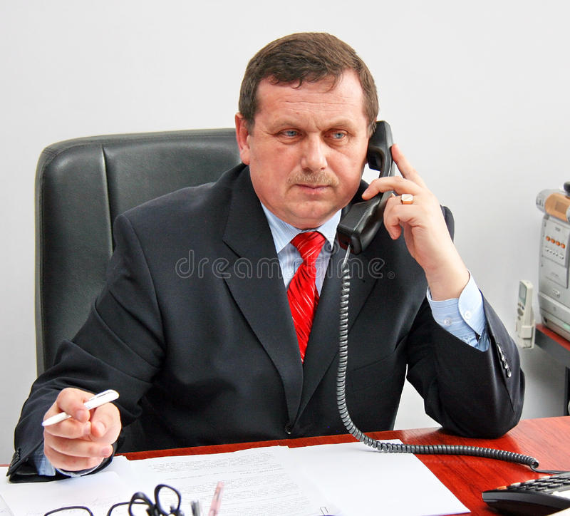 Download Man on phone stock image. Image of office, suit, telephone - 18509227