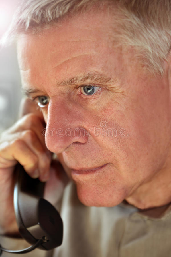 Download Man on phone stock image. Image of face, cellular, grandpa - 23082799
