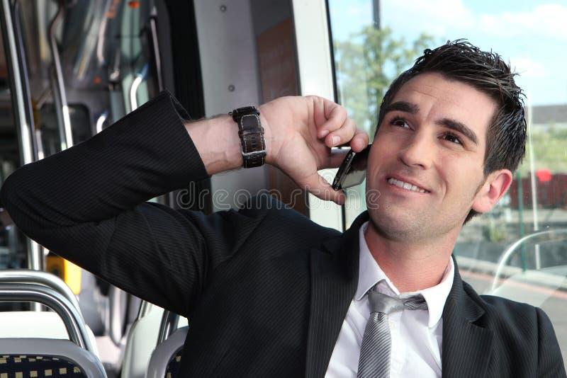 Man on the phone stock photos