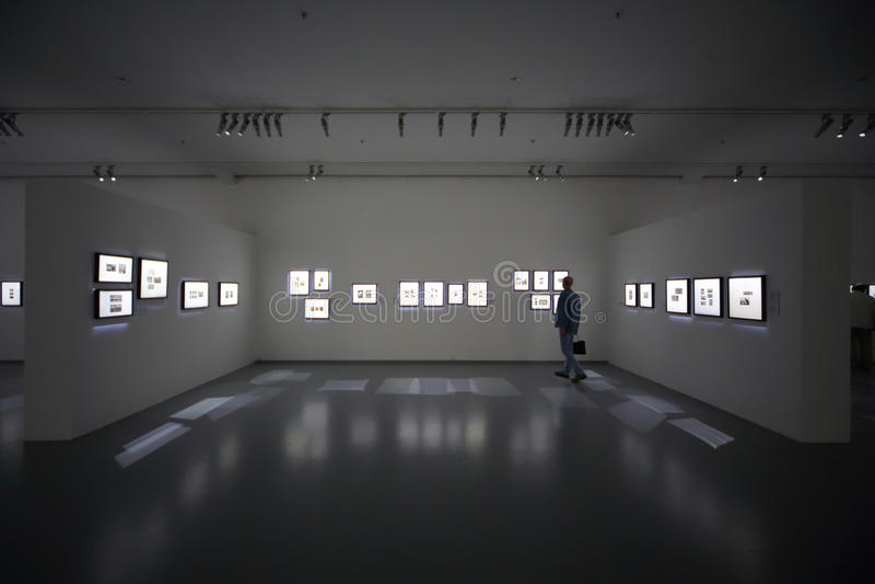 Man On Photo Exhibition Atomic Civilization Editorial Image