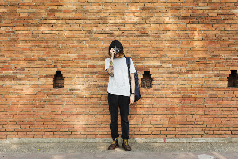 Man Photographer Traveler Lifestyle Concept royalty free stock photos