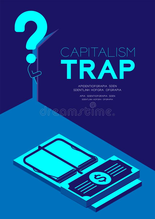 Free Man Pictogram And Question Mark Open The Door To Dark Room With Isometric Mousetrap And Banknotes, Doubt Capitalism Trap Concept Stock Photos - 151288533
