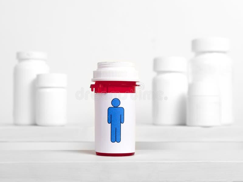 Man Pills royalty free stock photos
