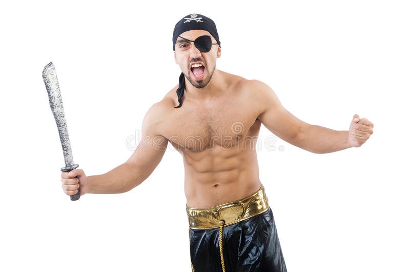 Download Man in pirate costume stock image. Image of dangerous - 33494275