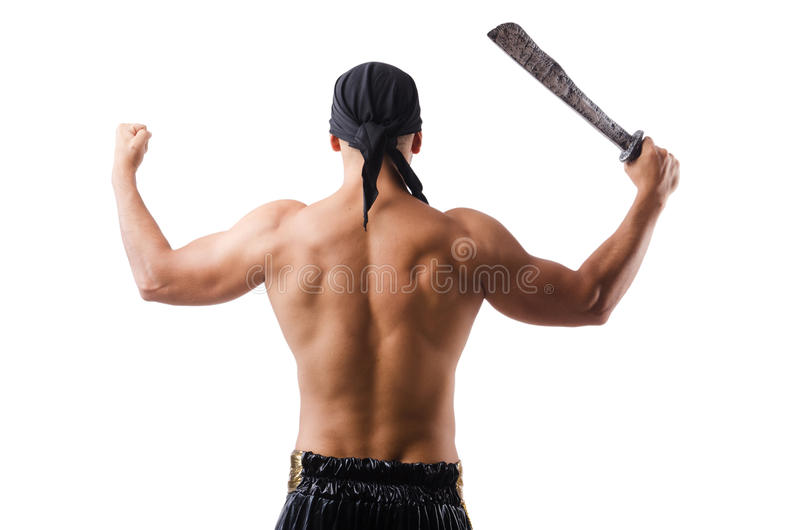 Man in pirate costume royalty free stock image