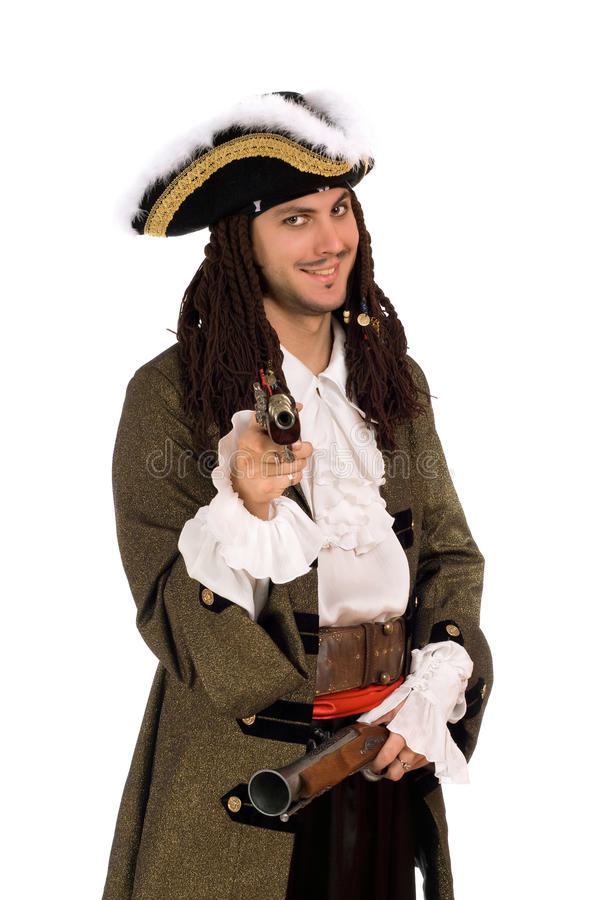 Download Man In A Pirate Costume With Pistols Stock Photo - Image: 23677904