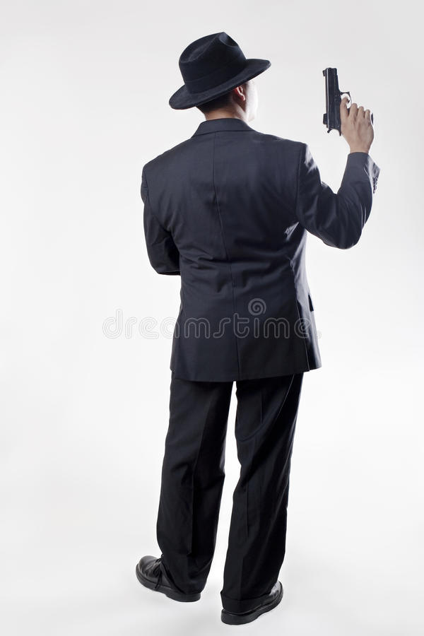 Man with Pistol royalty free stock images