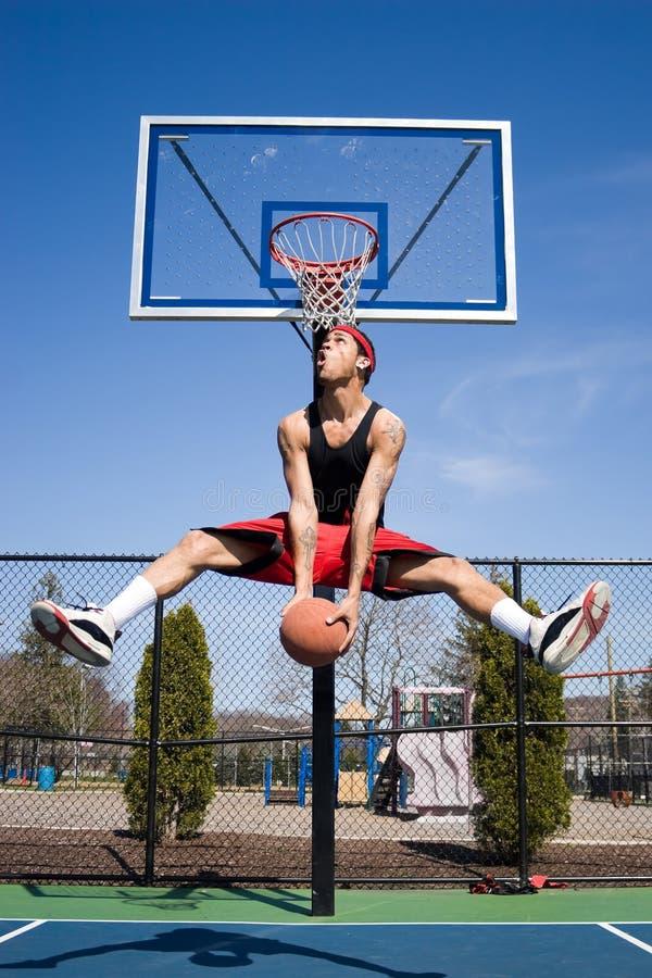 Man Playing Basketball stock photo