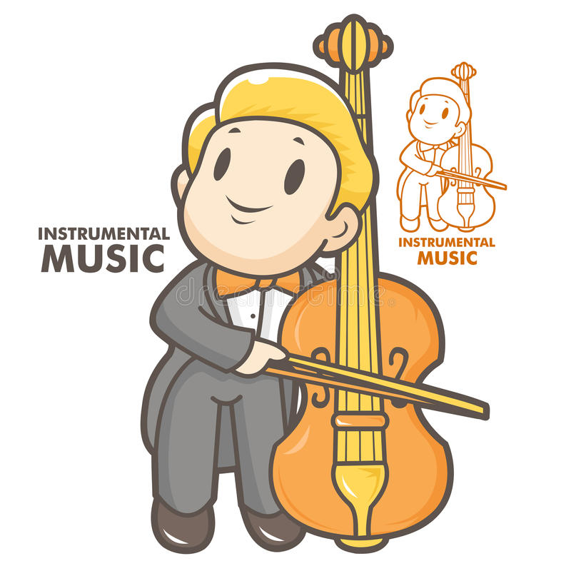 Download The man playing the cello stock illustration. Illustration of symbol - 27249588