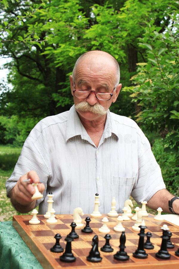 Download Man playing chess stock photo. Image of problem, intellectual - 28655718