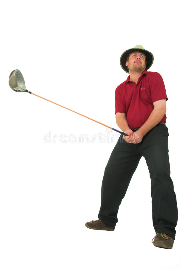Download Man playing golf #1 stock image. Image of consentration - 1571945