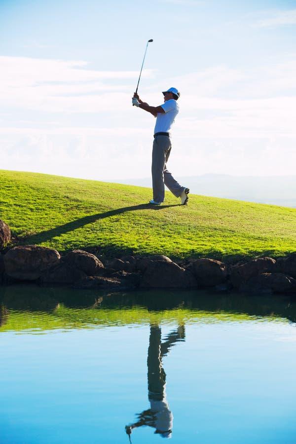 Man Playing Golf royalty free stock image