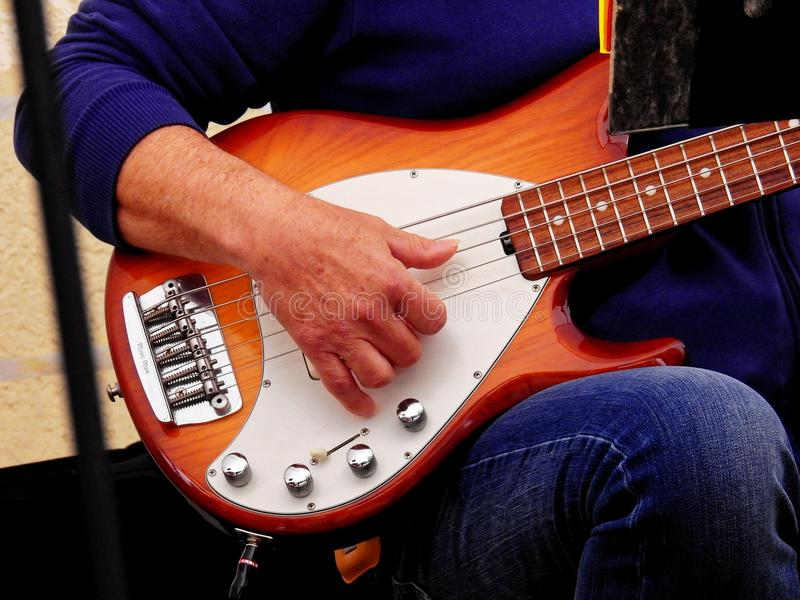 Man Playing Guitar stock images