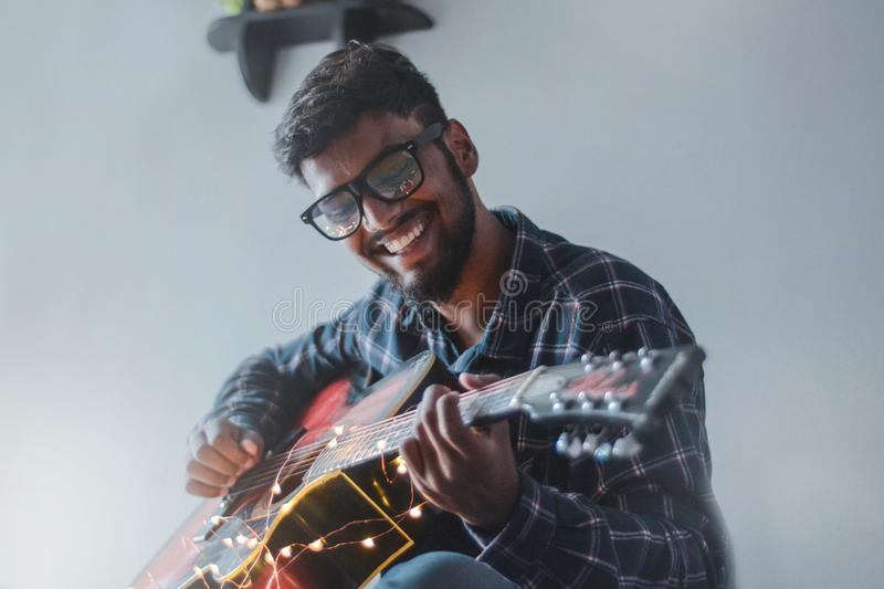 Man Playing Guitar stock photos