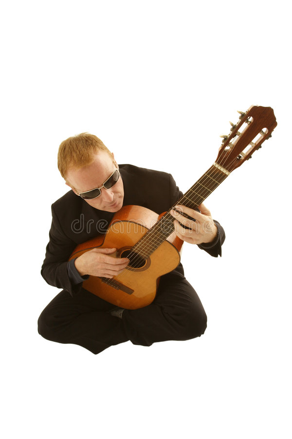 Download Man playing a guitar stock image. Image of casual, jamming - 1652057