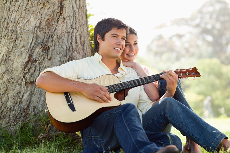 Download Man playing the guitar stock photo. Image of away, playing - 25332828