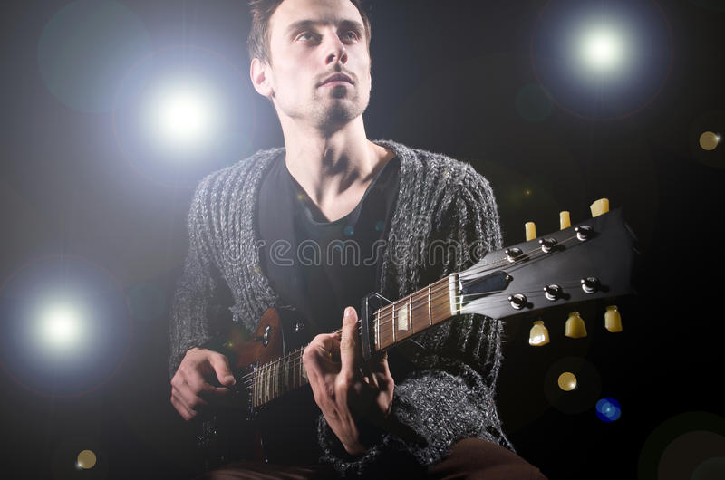 Download Man playing guitar stock photo. Image of adult, performer - 30834880