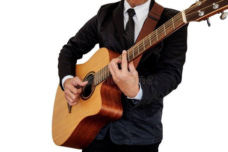 Man playing guitar. royalty free stock photo