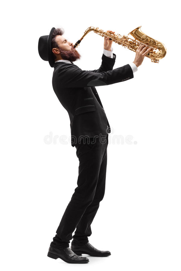 Free Man Playing On A Saxophone Royalty Free Stock Photo - 90935645