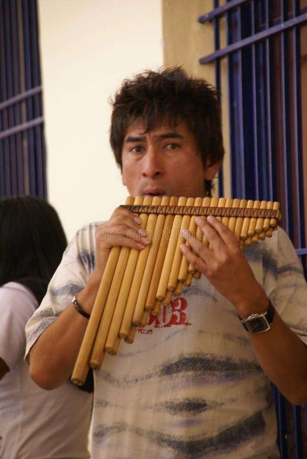 Download Man playing pan pipes editorial image. Image of latin - 20451565
