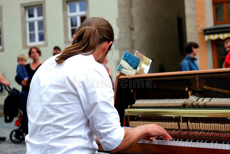 Man Playing Piano royalty free stock photos