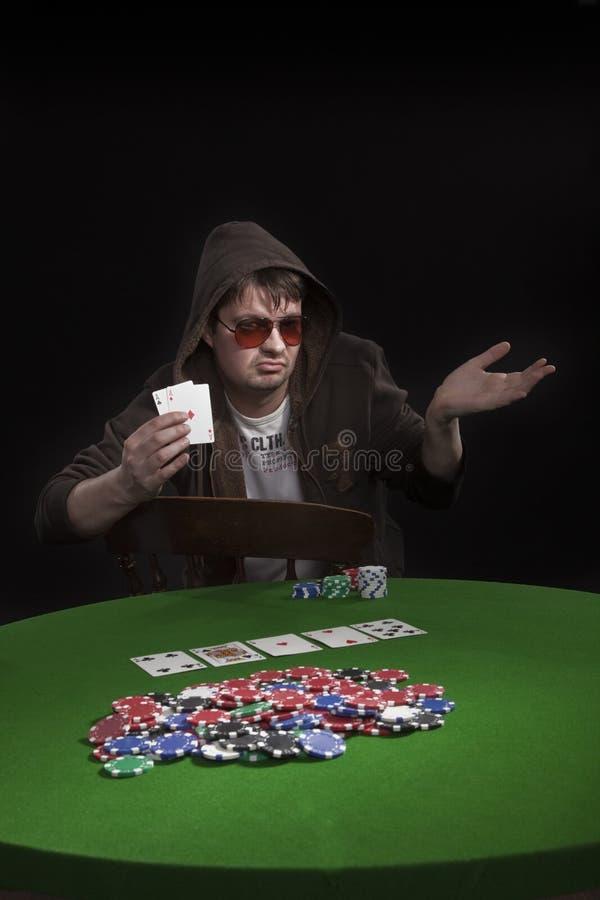 Download Man playing poker stock image. Image of chip, hold, gambling - 8549159