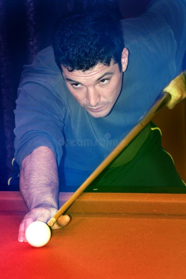 Man Playing Pool stock image