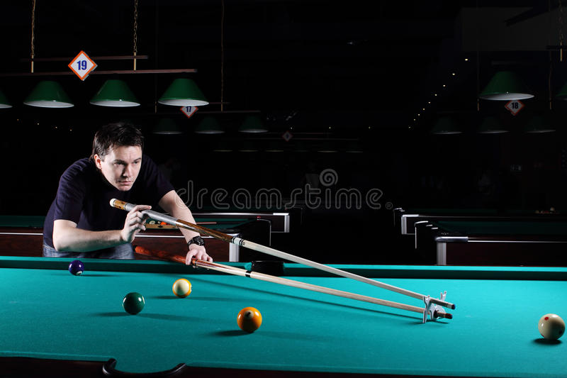 Download Man playing snooker. stock photo. Image of baize, sport - 27711928