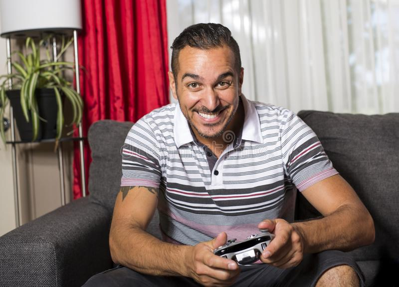 Man playing video game royalty free stock photography