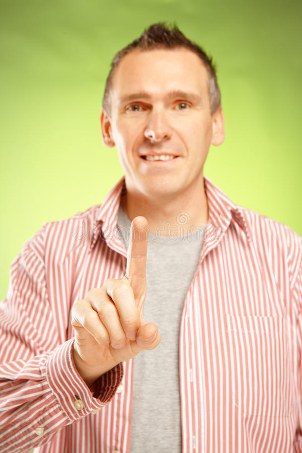 Download Man pointing stock photo. Image of choice, creative, empty - 23978842