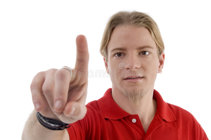Download Man pointing with finger stock photo. Image of youth, gesture - 7207718