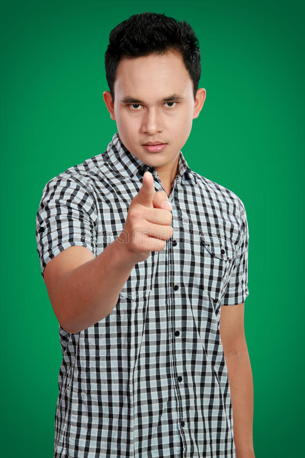 Man Pointing Finger At You Stock Photography