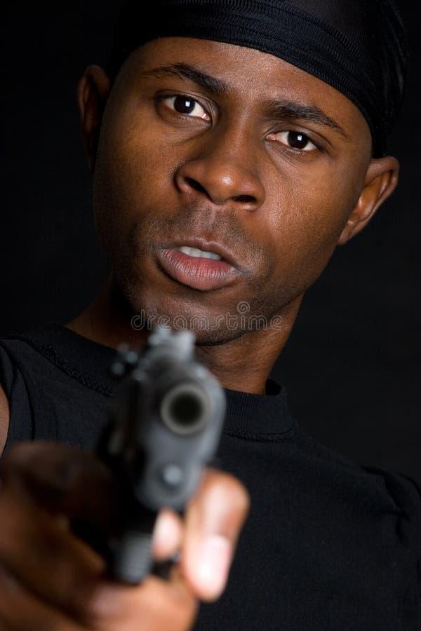 Download Man Pointing Gun Royalty Free Stock Image - Image: 7591586