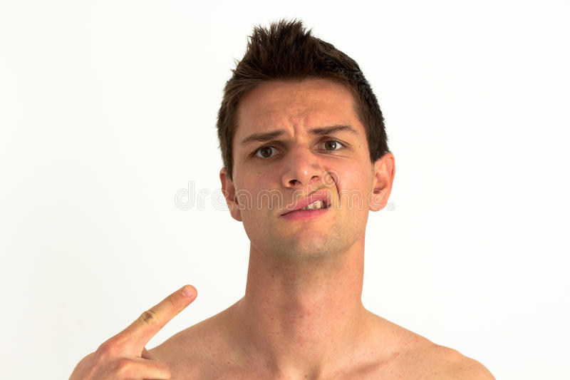 Download Man Pointing At Himself And Upset Stock Photo - Image: 22020978