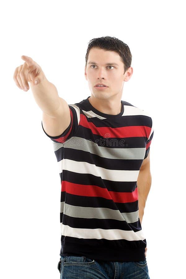 Download Man Pointing At Something Interesting Stock Image - Image: 19509565