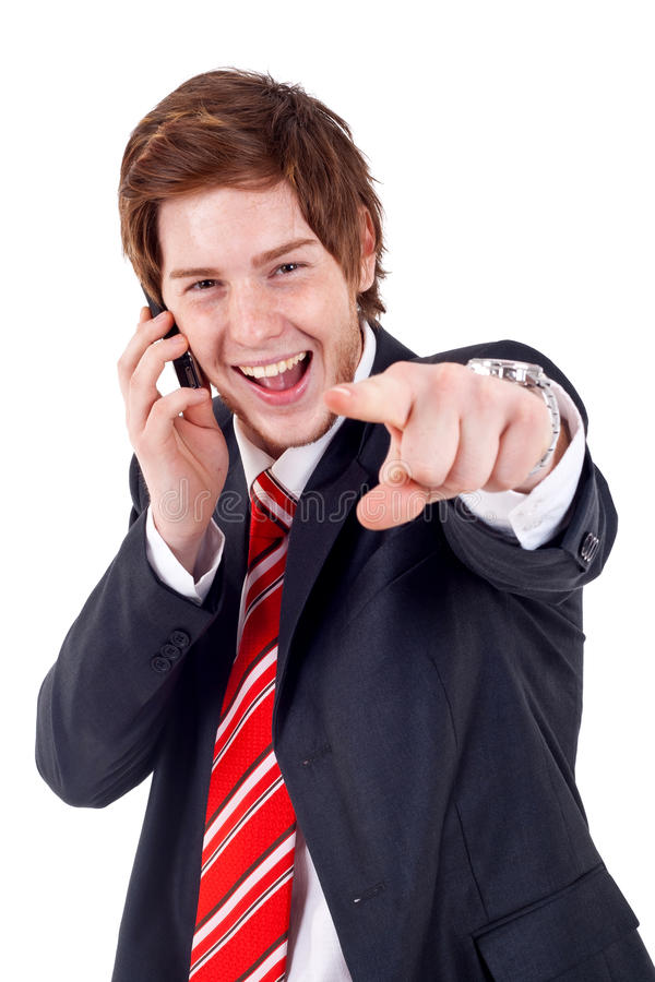 Download Man pointing to camera stock photo. Image of executive - 16027264