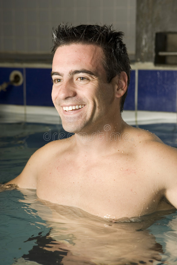 Man in Pool royalty free stock images