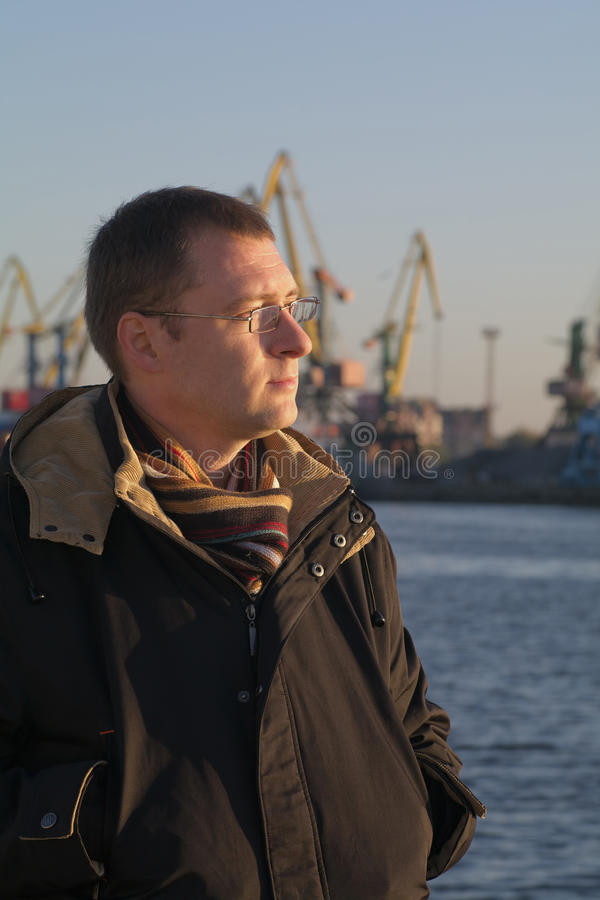 Man in the port