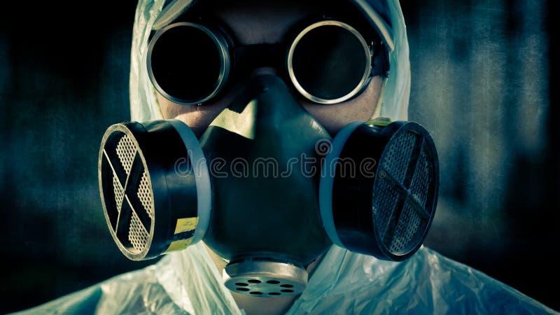 Man portrait in respirator royalty free stock photos