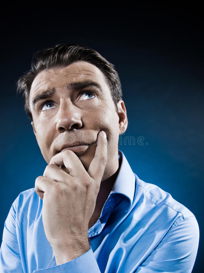 Download Man Portrait Think Concentrate Stock Image - Image: 22223669
