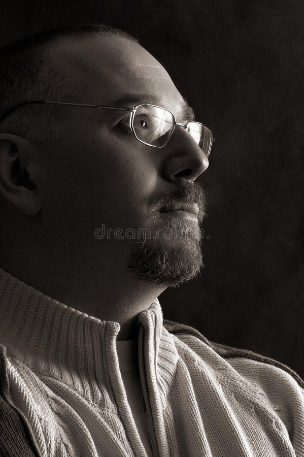 Man portret royalty-vrije stock foto's