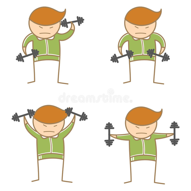 Download Man Posing Dumbbell Workout Stock Vector - Image: 28795683