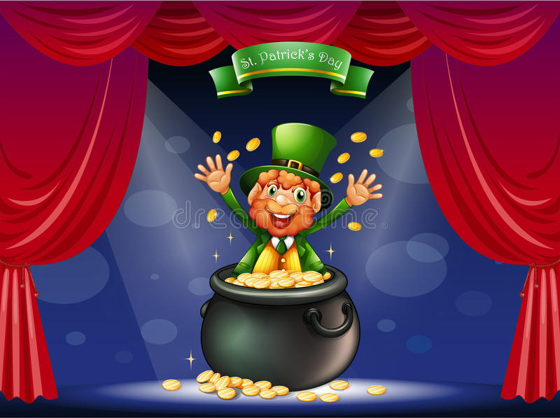 A Man In A Pot At The Center Of The Stage Royalty Free Stock Photos