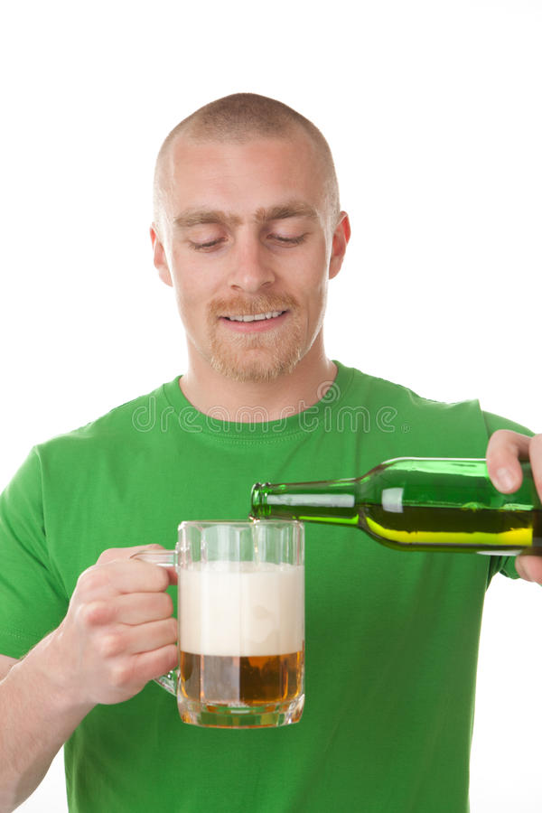 Download Man pouring glass of beer stock image. Image of enjoyment - 19398923