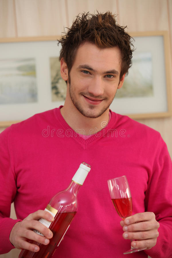 Download Man Pouring Wine In A Glass Stock Photo - Image: 27914908