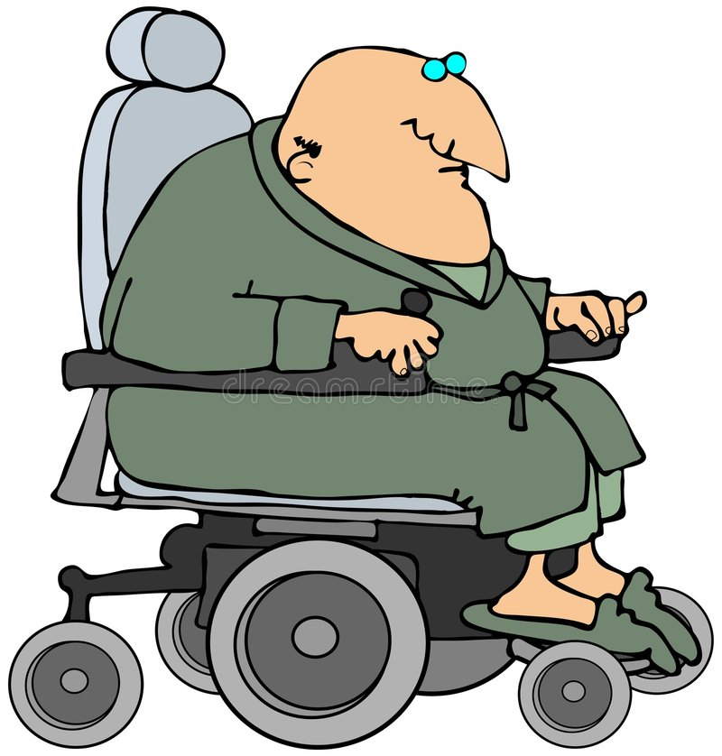 Download Man In A Power Chair stock illustration. Illustration of male - 8800268